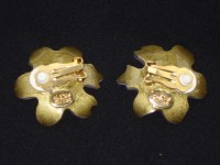 Pink Flower Earrings signed Alexis Bittar SOLD